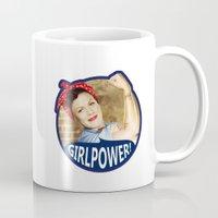 girl power Mugs featuring Girl Power! by Elisabeth