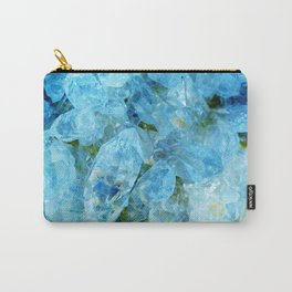 Blue Crystal Geode Art Carry-All Pouch