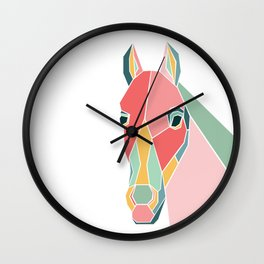 Graphic Horse Wall Clock