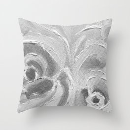 Find the Peach Plum Roses In the Night Throw Pillow