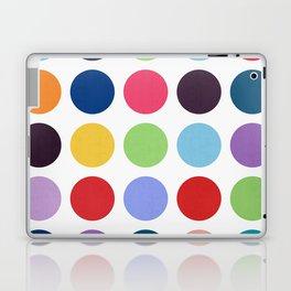 Colorful watercolor circles III Laptop & iPad Skin