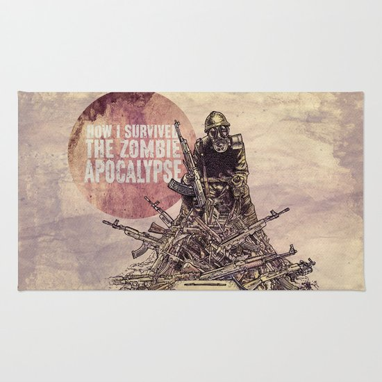 How I Survived The Zombie Apocalypse Rug