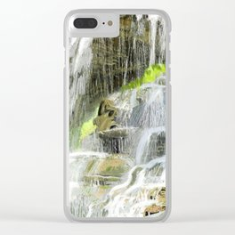 Misty Fountain Waterfall Clear iPhone Case