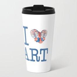 I Heart Art Travel Mug