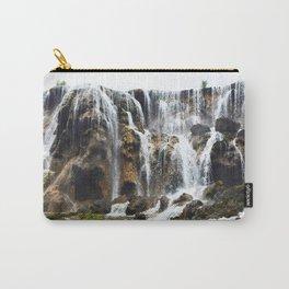 Pearl Shoal Waterwall // Jiuzhaigou Valley Carry-All Pouch
