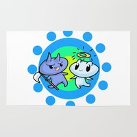 friendship Area & Throw Rugs featuring friendship by artbymeng
