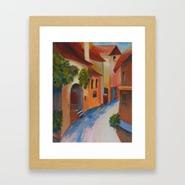 Tuscan Lane Framed Art Print