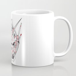 Heavyarms Gundam Wing Sugar Skull Edition Coffee Mug