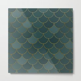 Tidewater green scales Metal Print