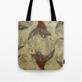 ying and yang shark fin goldfish Tote Bag