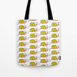 Yellow snails Tote Bag