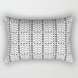 Dagger Danger Cross by Chrissy Curtin Rectangular Pillow
