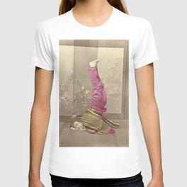 Japanese Woman Standing on her Head by Raimund von Stillfried T-shirt