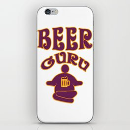 beer guru - I love beer iPhone Skin
