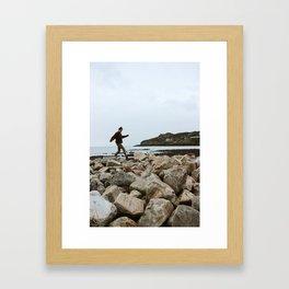 Rock Skipper Framed Art Print