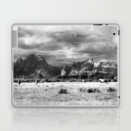 Horse and Grand Teton (Black and White) Laptop & iPad Skin