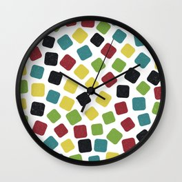 Multicoloured Gummies Pattern (Sweets) Wall Clock