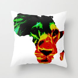 Lion Heart Africa Throw Pillow