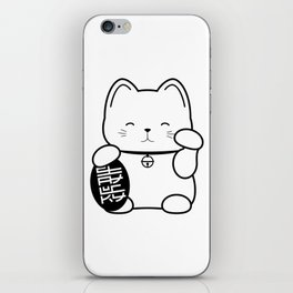 Stay Lucky WHT iPhone Skin