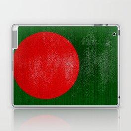 Bangladesh Distressed Halftone Denim Flag Laptop & iPad Skin