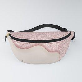 Pink Drip Glitter Fanny Pack