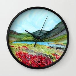 Long Lake, Alaska Wall Clock