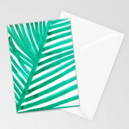 watercolor lines palm leaf 11 Stationery Cards