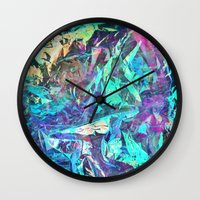 holographic Wall Clocks featuring Holographic II by Nestor2