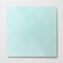Mint pattern Metal Print
