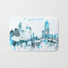 Montreal Monochrome Blue Skyline Bath Mat