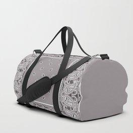 Classic Gray Bandana Duffle Bag