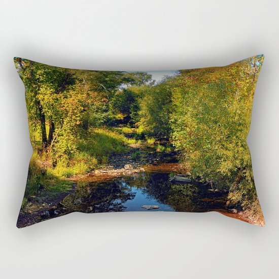 River scene at the end of summer Rectangular Pillow