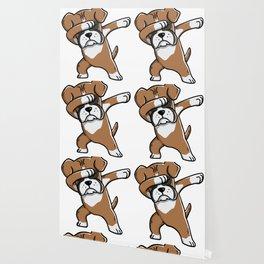 Funny Boxer Dog Dabbing Wallpaper