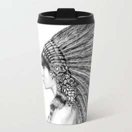 Ginger Flower Travel Mug