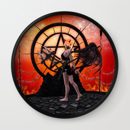 The little devil in the night Wall Clock