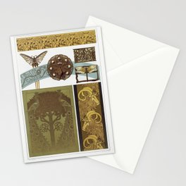 Libellules fer a dorer papillon paon hippocampes et libellule bijoux paons fer a dorer chevres bordu Stationery Cards