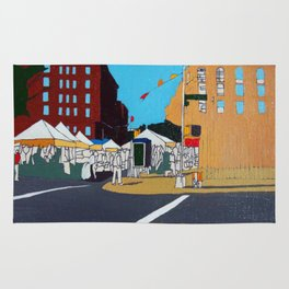 Green Market Plaza Rug
