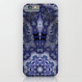 Kaleid low blue iPhone Case