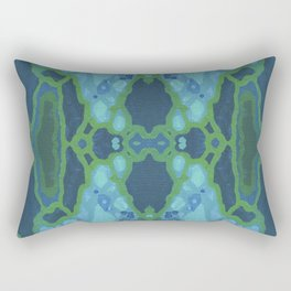 Art Nouveau Coastal Panel Rectangular Pillow