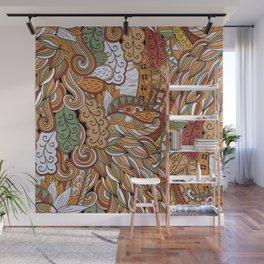 Stylized Boho Bulb Pattern Wall Mural