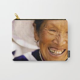 Happy Grandma_Smiling Face Carry-All Pouch
