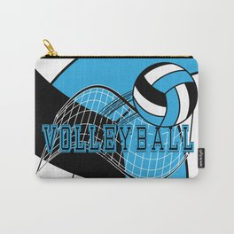 Volleyball Sport Game - Net - Baby Blue Carry-All Pouch