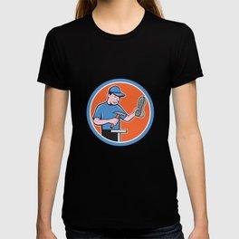 Shoemaker With Hammer Shoe Cartoon T-shirt