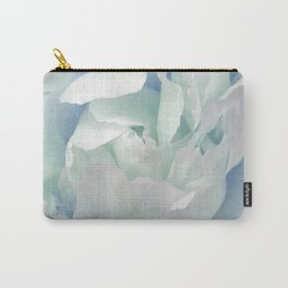 Peony in Blue White Carry-All Pouch