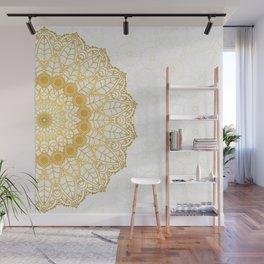 Gold mandala Wall Mural