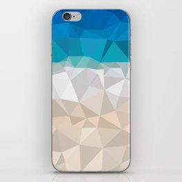 Low poly beach iPhone Skin