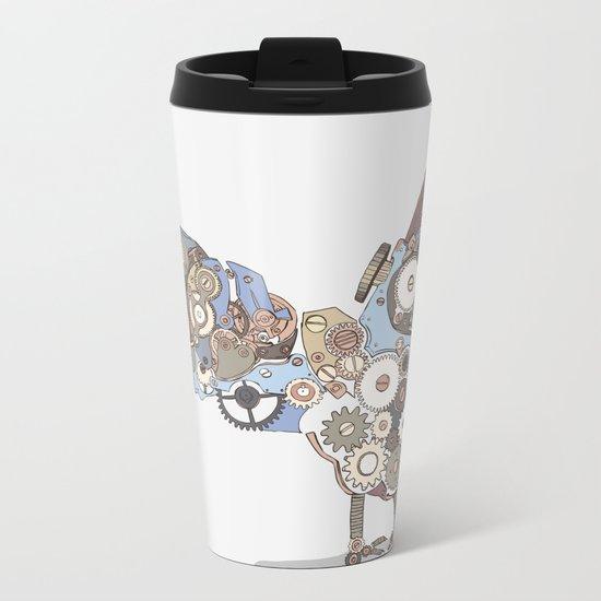 Chicken Alarm Metal Travel Mug