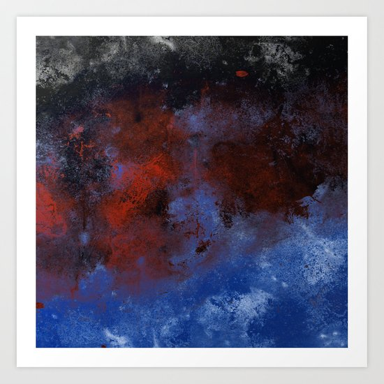 Turmoil - Acrylic Abstract Painting Art Print