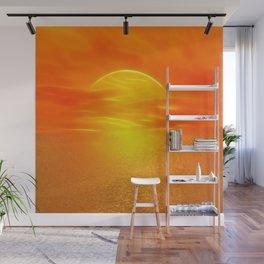 Sonne über dem Meer Wall Mural