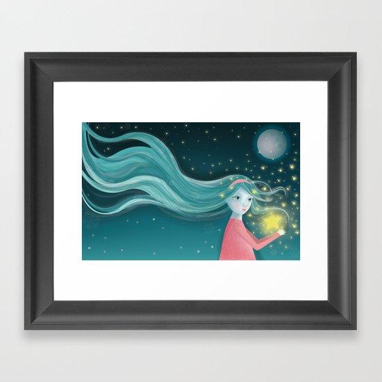 A gift Framed Art Print